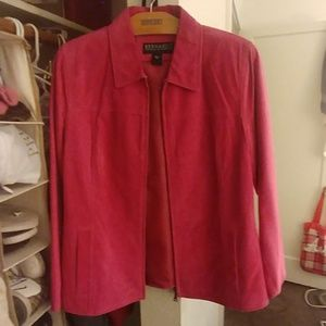 Bernardo (for Nordstrom's) Pink Suede Jacket
